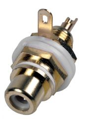 PRO SIGNAL PSG08635  Chassis Socket, Phono/Rca, Gold/White